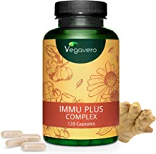 VEGAVERO® Immune System Supplement | 120 Capsules | Natural Support & Protection | with Acerola (Vitamin C), Ginger, Zinc, Selenium, Vitamin D3 Extracts | for Men, Women & Children | 100% Vegan