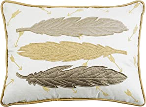 Comfy Hour 18x13 Gentle Spirit Feather Accent Pillow Throw Pillow Fashionable Cushion