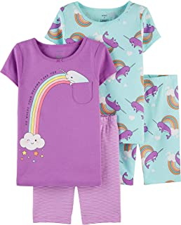 Carter's Baby Girls' 4 Pc Cotton 371g083 (4T, Narwhal)