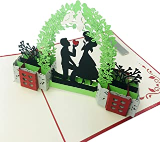 in Love Couple (Original) - Wow 3D Pop Up Greeting Card | Suitable for Love, Engagement, Wedding, Proposal, Anniversary, Birthday