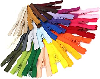 Assortment of Colors YKK #3 Skirt & Dress Coil Zippers Mix of Colors (25 zippers, 8 inch)ZipperStop Wholesale Authorized D...