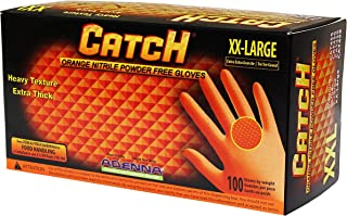 Adenna Catch 9 mil Nitrile Powder Free Gloves (Orange, XX-Large) Box of 100
