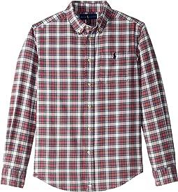 Plaid Cotton Oxford Shirt (Big Kids)