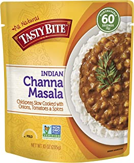 Tasty Bite Indian Entree Channa Masala 10 Ounce (Pack of 6), Fully Cooked Indian Entrée..