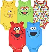 Sesame Street Baby Boy Girl 5 Pack Sleeveless Bodysuits