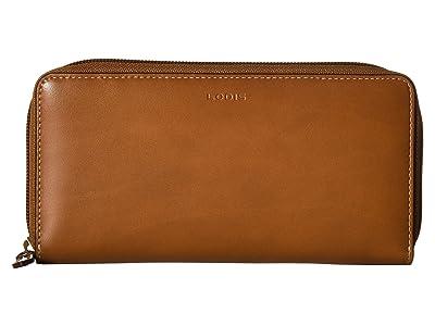 Lodis Accessories Audrey Under Lock Key RFID Perla Zip Wallet (Sequoia/Papaya) Wallet Handbags