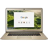 Acer Chromebook 14, Aluminum, 14-inch Full HD, Intel Celeron N3160, 4GB LPDDR3, 32GB, Chrome,...