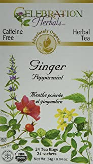 CELEBRATION HERBALS Ginger Peppermint Tea Organic 24 Bag, 0.02 Pound