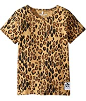 mini rodini - Basic Leopard Short Sleeve Tee (Infant/Toddler/Little Kids/Big Kids)