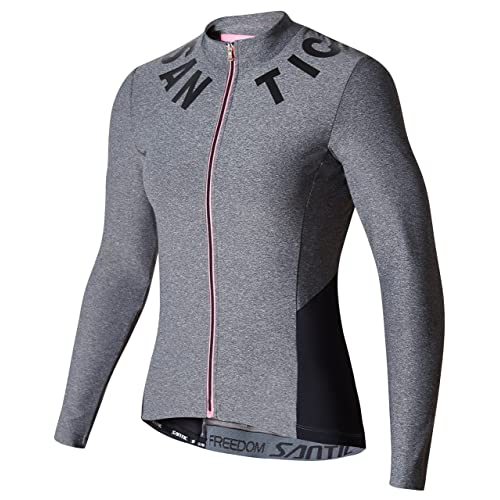 Santic Cycling Jersey Women s Long Sleeve Bicycle Tops Mountain Bike Shirts  with Pockets f4e2b9f63