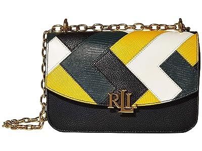 LAUREN Ralph Lauren Multi Patchwork Madison 22 Crossbody Medium (Black/Racing Green/Sundance/Vanilla) Handbags