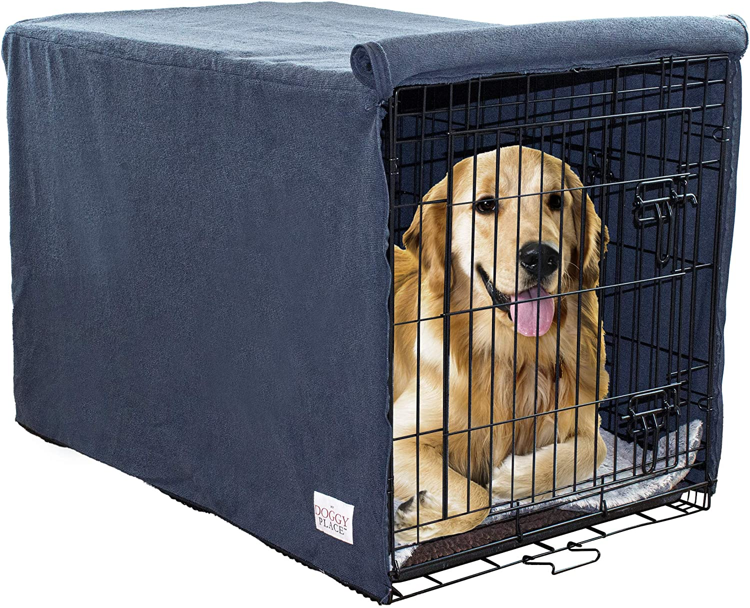 36 x 24 x 24, Brown My Doggy Place Ultra Absorbent Microfiber Chenille Small Dog Crate Cover for Pets Durable Premium Washable Kennel Protector Privacy Shield