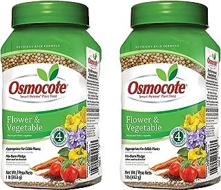 Set of 2 Osmocote 1 Lb. Flower and Vegetable Smart-Release Plant Food Bottle bundled by Maven Gifts