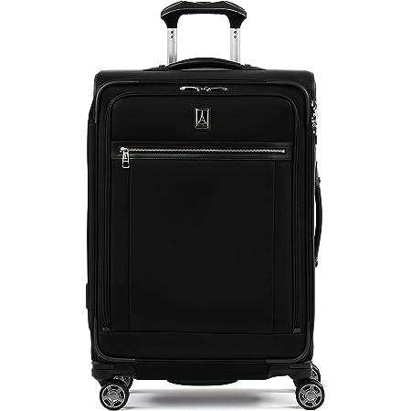 Travelpro Platinum Elite-Softside Expandable Spinner Wheel Luggage, Shadow Black, Checked-Medium 25-Inch