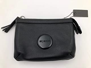 Mimco Secret Couch Matte Black Hip Bag Women Shoulder Clutch Leather