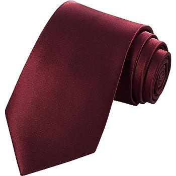 "TIE G Solid Satin Tie Woven Silky Touch 3.35"" Ties Mens Necktie in Gift Box"
