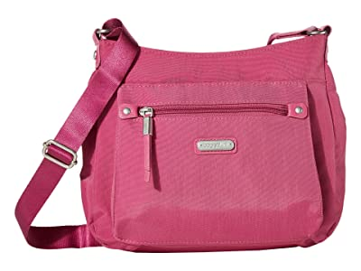 Baggallini New Classic Uptown Bagg with RFID Phone Wristlet (Deep Fuchsia) Bags