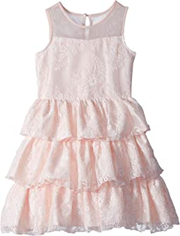 Us Angels Chantilly Lace Tiered Dress (Big Kids)