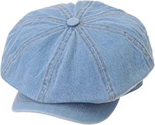 7b79737971d4b WITHMOONS Denim Cotton Newsboy Hat Baker Boy Beret Flat Cap KR3613