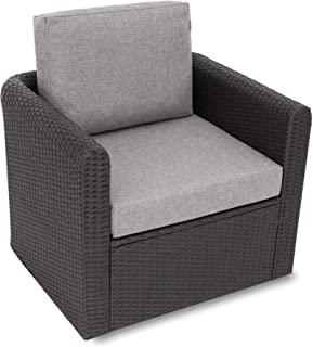 Miatech Coussin de jardin, pour chaise, fauteuil rotin, fauteuil jardin, coussin fauteuil rotin, coussin fauteuil jardin-T...