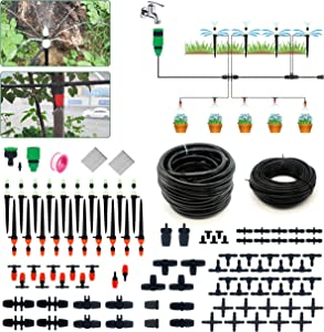 ruixin Drip Irrigation Kit, 100 ft 1/4