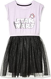 Amazon Brand - Spotted Zebra Girls Disney Star Wars Marvel Frozen Princess Knit Short-Sleeve Tutu Dresses