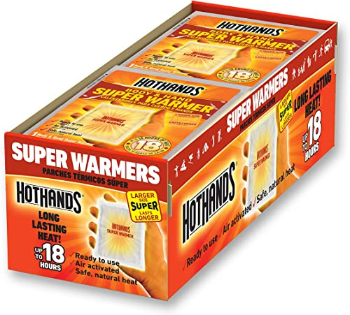 Body & Hand Super Warmers - Long Lasting Safe Natural Odorless Air Activated Warmers - Up to 18 Hours of Heat - 40 In...
