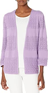 Alfred Dunner Women's Petite Biadere Pointelle Two for ONE