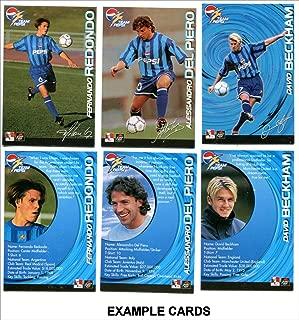 1998 Team Pepsi Soccer Football Cards COMPLETE SET! David Beckham, Carlos, Del Piero, Owen ++ RARE!