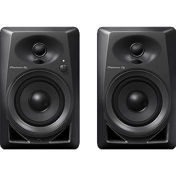 Pioneer DJ Studio Monitor, RCA, Mini-Jack, Black (DM40)