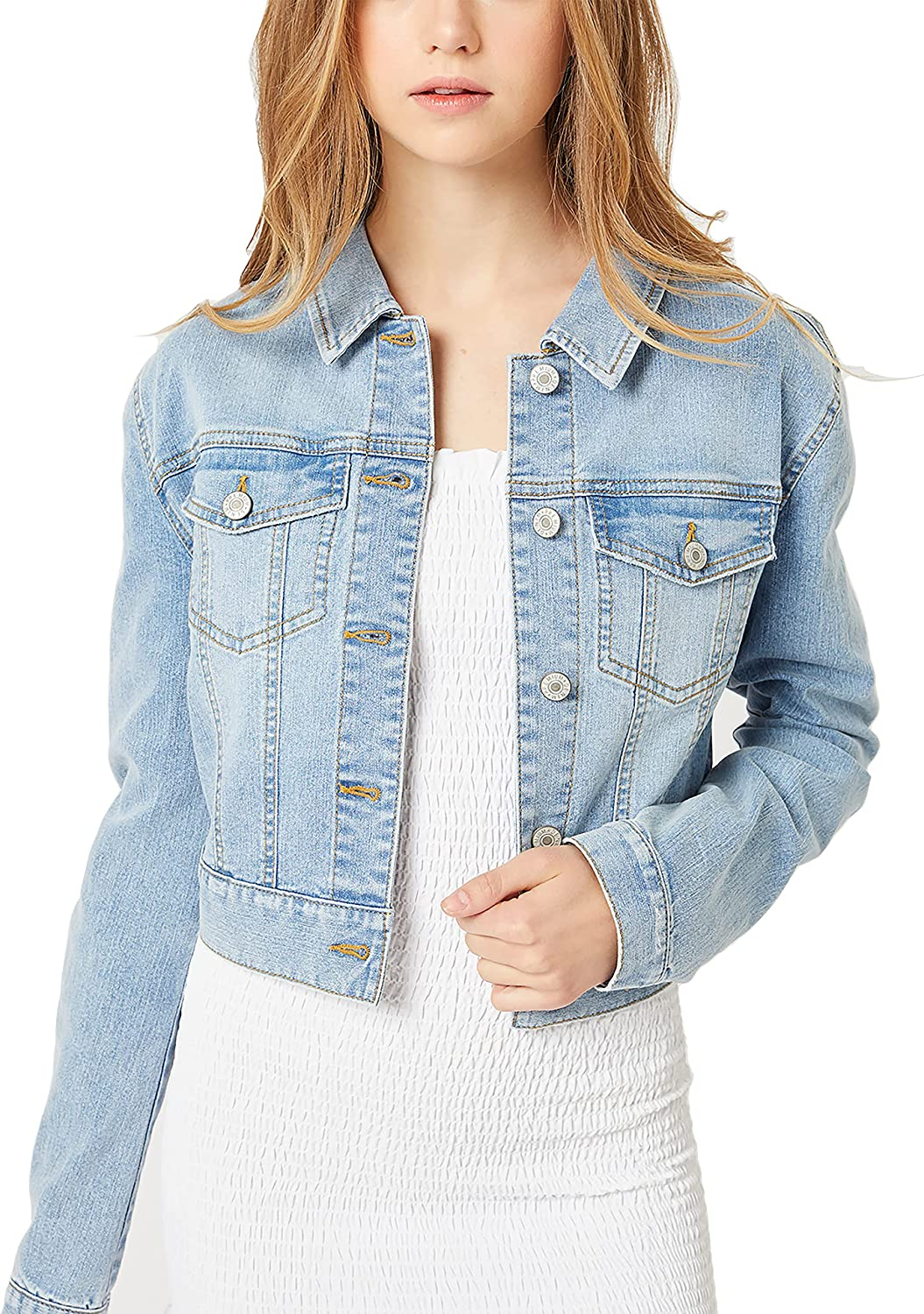 Women's Casual Vintage Distressed Cropped Denim Jean Sleeve Product Long San Diego Mall