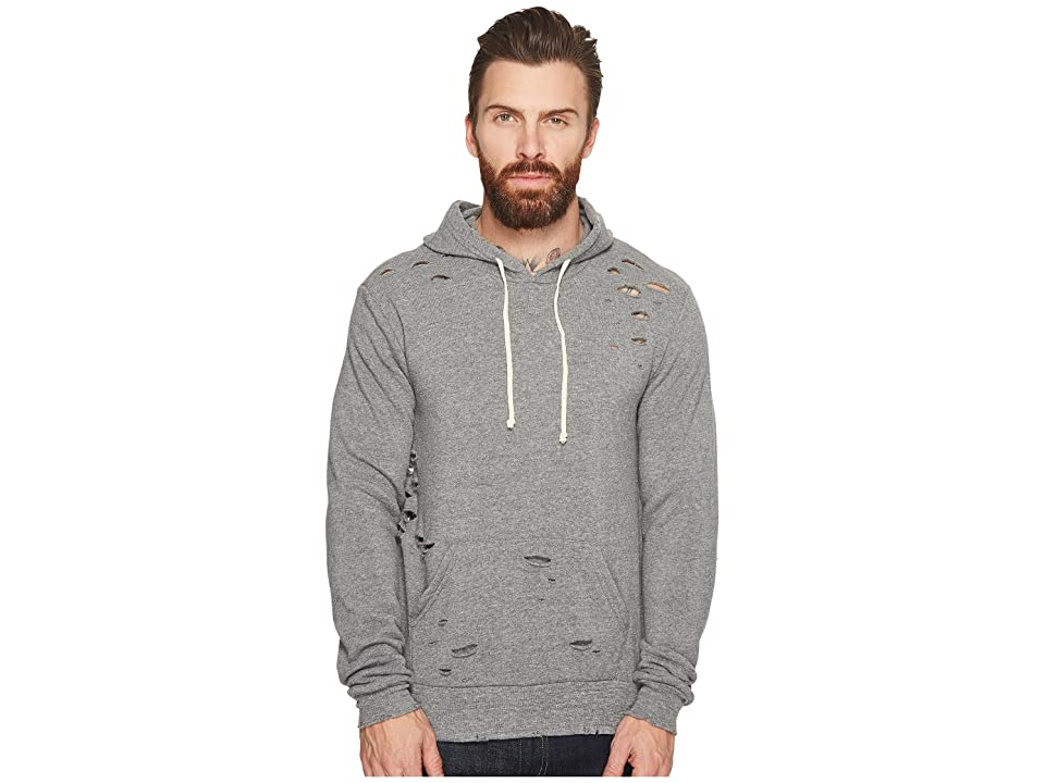 Alternative The Super Distressed Challenger Sweatshirt (Eco Grey) Men