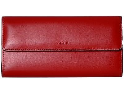 Lodis Accessories Audrey RFID Checkbook Clutch (Red RFID) Wallet Handbags