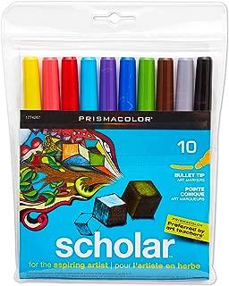 Prismacolor Scholar Art Markers, Bullet Tip, Assorted Colors, 10-Count