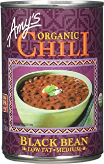 Amy's Organic Black Bean Chili, Low Fat, USDA Organic, 14.7-Ounce
