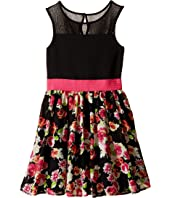 Us Angels - Sleeveless Illusion w/ Chiffon Full Skirt (Big Kids)