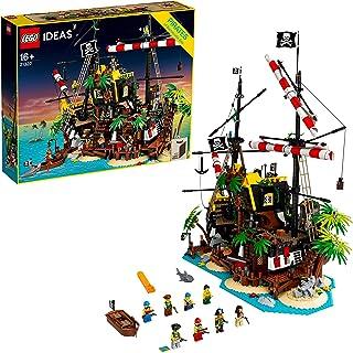 LEGO 21322 Ideas Pirates of Barracuda Bay 2in1 Ship and Shipwreck Island Building Set, Collectors Model
