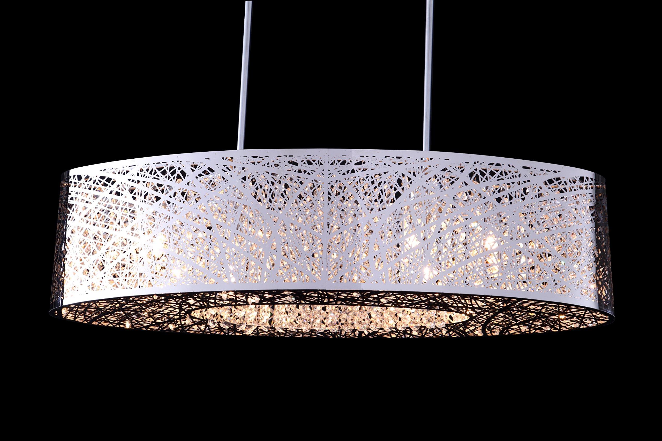 8 Light Inca E21310-10個オーバルランプシェード鳥の巣シャンデリアシャンデリアライトランプの長さ81.28 cm