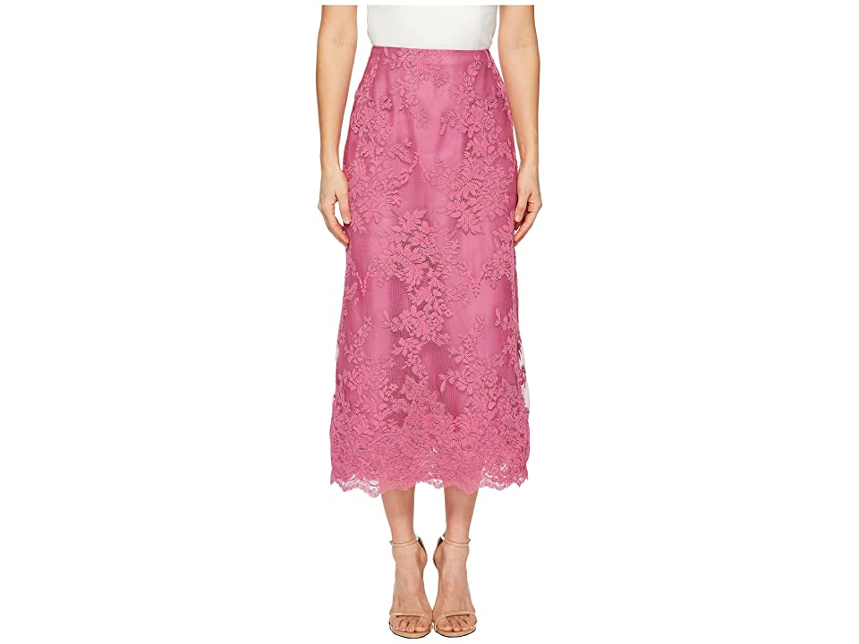 Marchesa Blush Corded Tea Length Lace A-line Skirt (Azalea) Women's Skirt