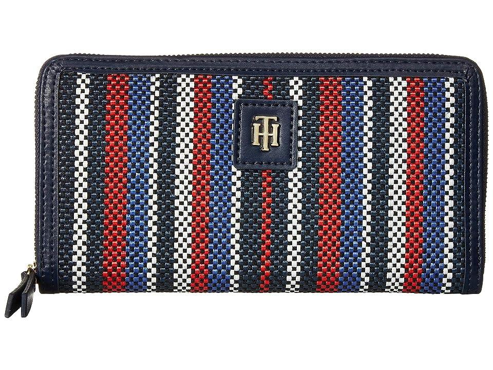 Tommy Hilfiger Julia Fashion Zip Wallet (Navy/Multi) Wallet Handbags