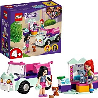 LEGO 41439 Friends Cat Grooming Car Playset with Kittens, Toy for Kids 4+ Years Old
