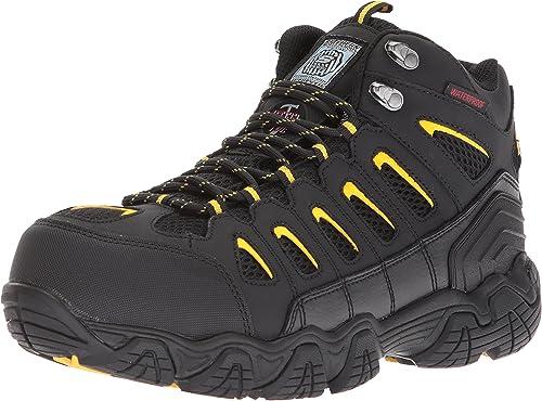 Skechers for Work Men's Blais-Bixford-M Hiking démarrage, noir jaune, 12 M US