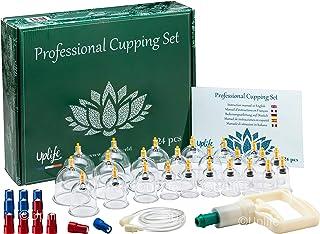 Uplife Pistolet Massage Kit Cupping Kine Ventouses Chinoises d'Aspiration Anti Cellulite Soulager Douleur Fatigue Acupunct...
