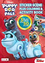 Puppy Dog Pals Bendon 43374 Disney Sticker Scene Plus Coloring and Activity Book