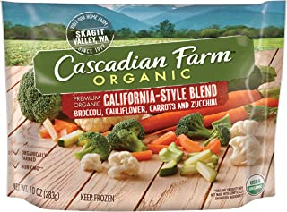 Cascadian Farm Organic California-Style Blend, 10oz Bag (Frozen), Organically Farmed Frozen Vegetables, Non-GMO