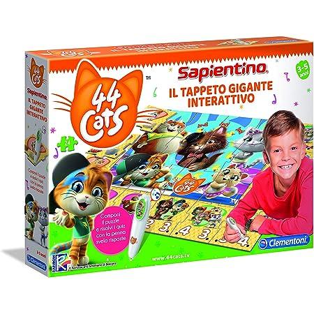 Clementoni - 16192 - Sapientino - Il Tappeto Gigante Interattivo 44 Gatti - Made in Italy, puzzle bambini, gioco educativo bambini 3 anni, gioco elettronico parlante (versione in italiano)