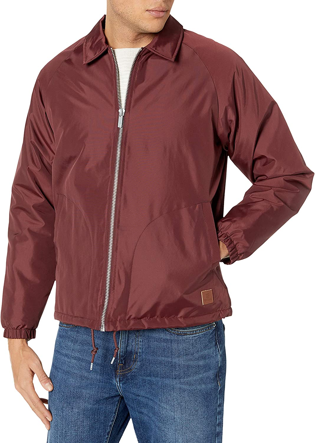Brixton Men's Claxton Relaxed Fit Collar Sherpa Jacket