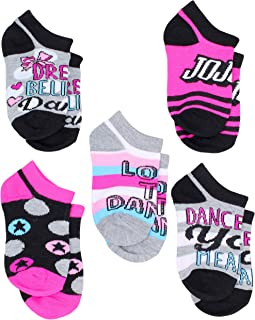 Nickelodeon Little Girls JoJo Siwa 5-Pack No Show Ankle Socks