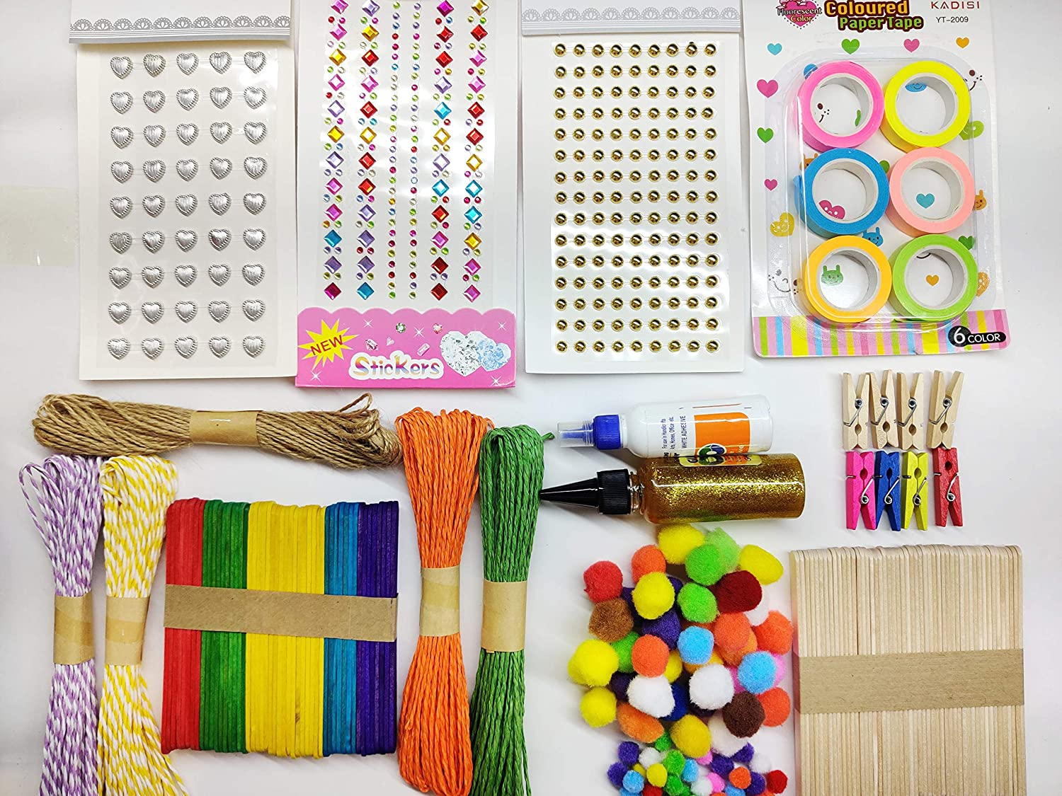 Paaroots Creative DIY Art and Craft Kit Hobby Pack for Kids and Adults for  Decoration and School Projects - 17 Pcs , Multicolour : Amazon.in: Home &  Kitchen