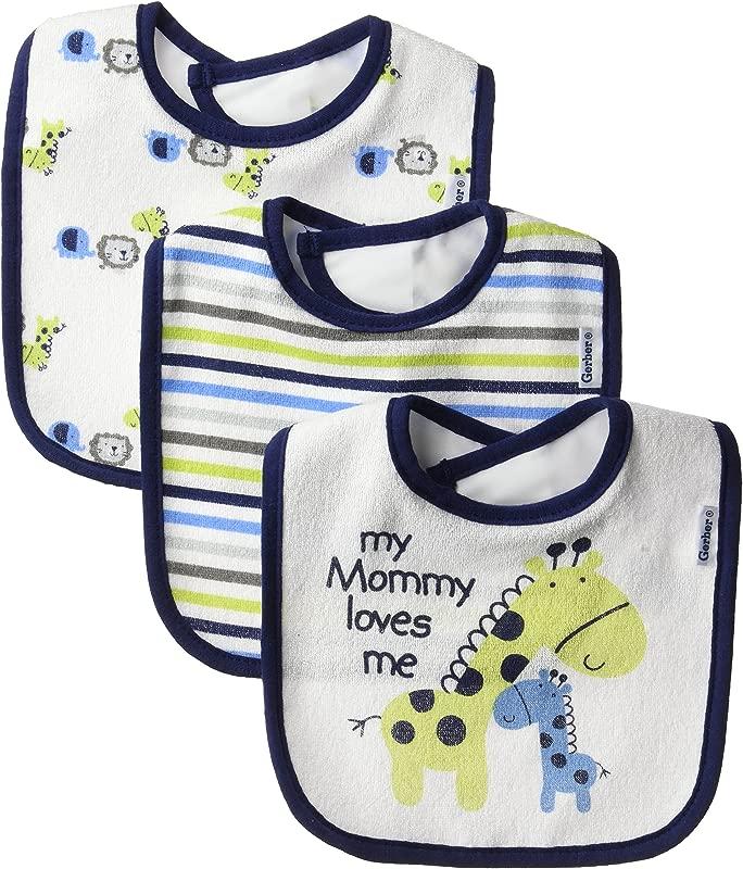 Gerber Baby Boys 3 Pack Dribbler Bib